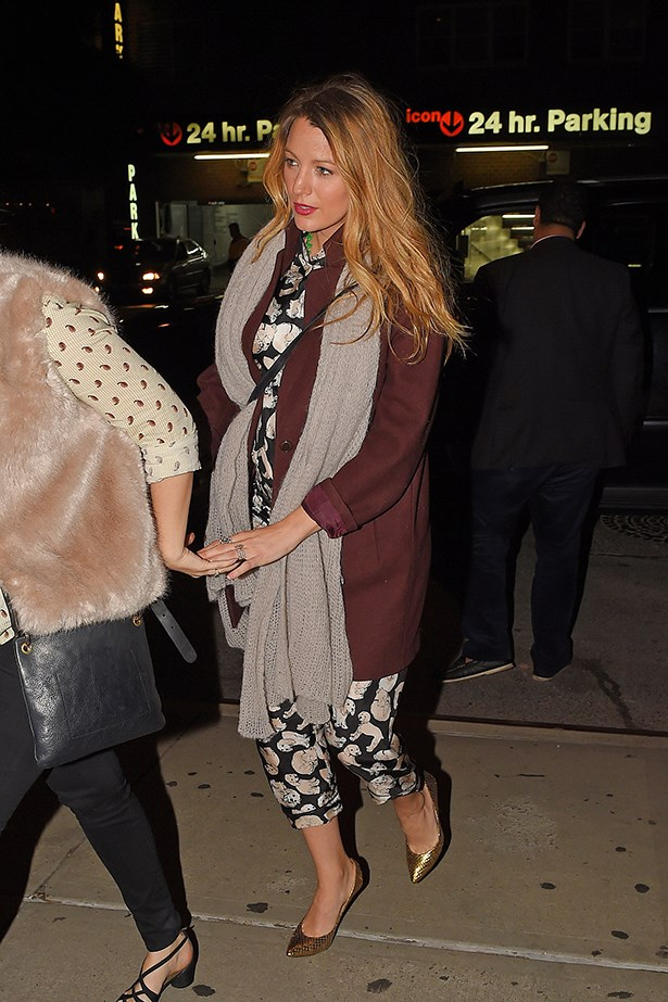 Blake Lively attends the play of her <em>The Sisterhood of the Travelling Pants</em> co-star America Ferrera