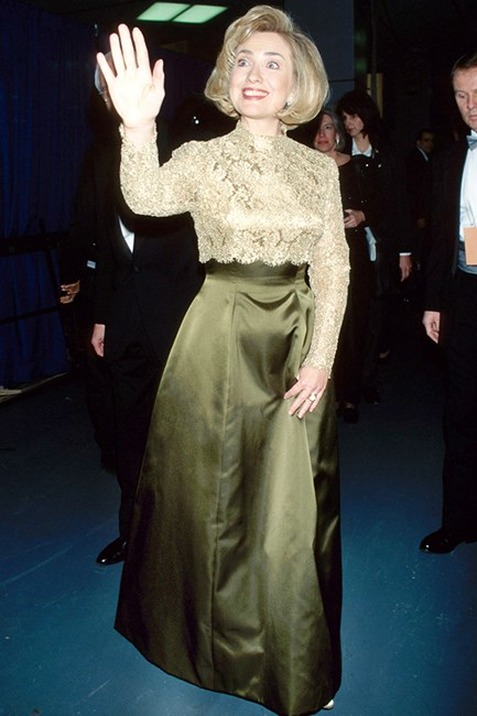 Hillary Clinton in 1997 at the Grammy's