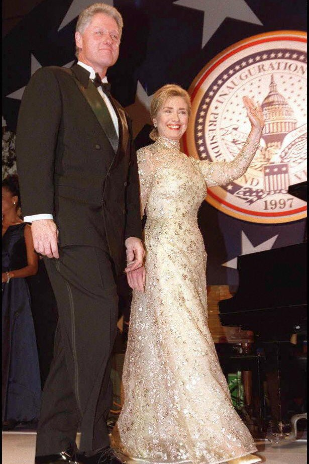 "Former US President Bill Clinton, referring to the Oscar de la Renta gown his wife Hillary Clinton wore to his inauguration ball in 1997, said ""I still remember when Hillary walked out in that gown. I thought, 'Oh my God, that's beautiful.' I still think it's probably the best gift Oscar ever gave us, beyond his friendship."""