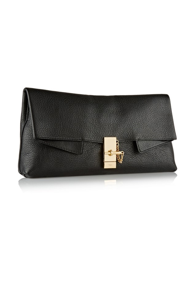"""Big enough to fit all my race-day essentials."" - Laura Culbert, deputy chief sub-editor <br><br> Clutch, $1,371, Chloé, <a href=""http://www.net-a-porter.com/product/469288/Chloe/drew-textured-leather-clutch"">net-a-porter.com</a>"