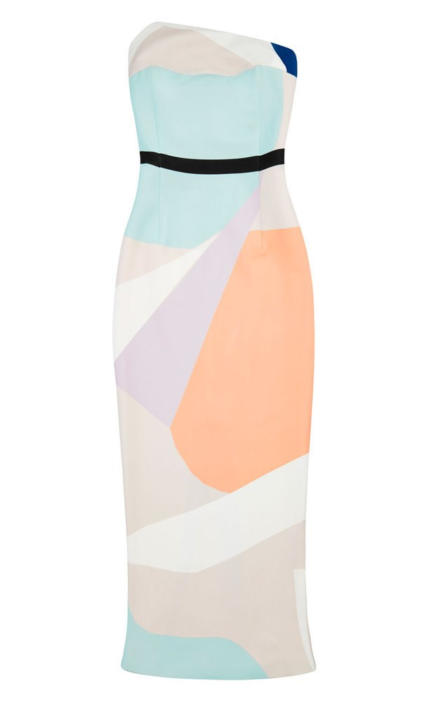 """It's the perfect length for track-side, and nothing says summer chic more than sorbet hues."" - Vanessa Lawrence, features editor <br><br> Dress, $350, By Johnny, <a href=""http://byjohnny.bigcartel.com/product/sorbet-block-strapless"">byjohnny.com.au </a>"