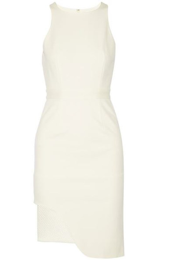 "Dress, $550, Jonathan Simkhai, <a href=""http://www.net-a-porter.com/product/455647/Jonathan_Simkhai/mesh-trimmed-stretch-ponte-dress "">net-a-porter.com </a>"