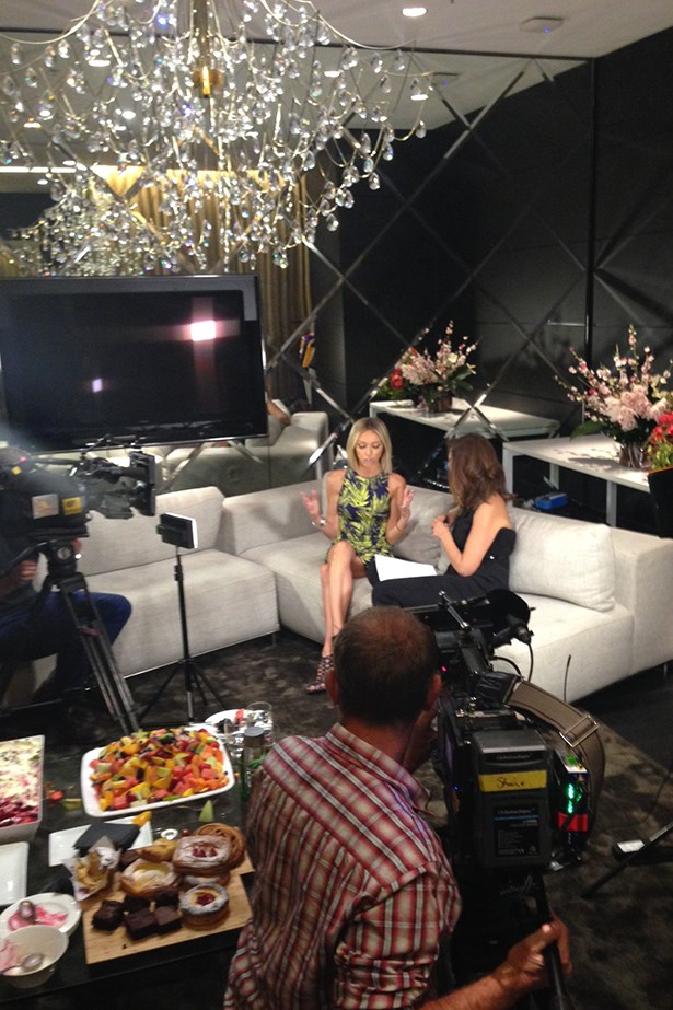 """""""In the Westfield Sydney styling suite with my good friend Sally Obermeder."""""""