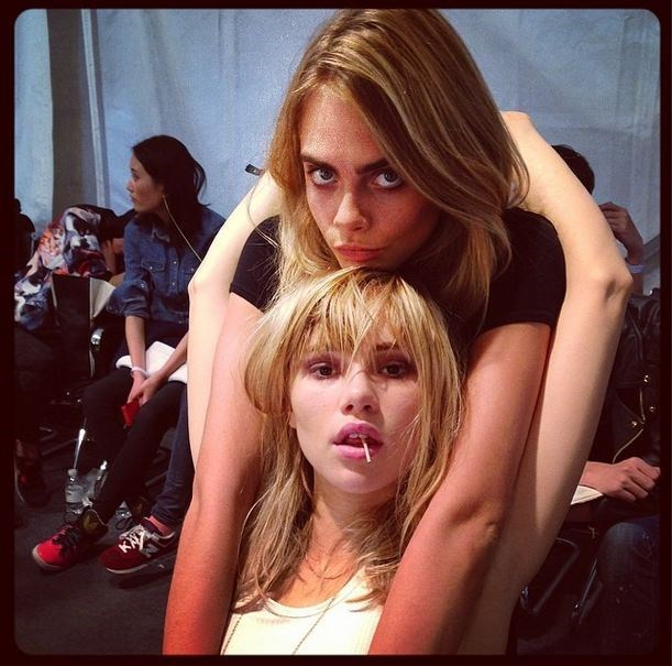 Suki Waterhouse and Cara Delevingne are the definition of girl swag