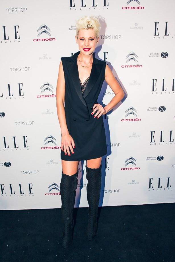 Kate Peck wearing Alexander McQueen boots