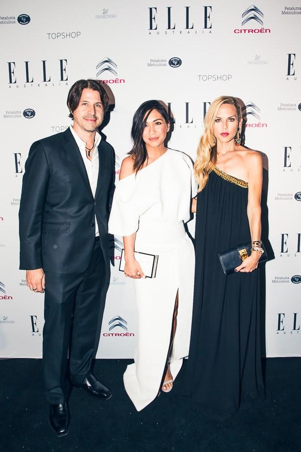Rodger Berman, Justine Cullen and Rachel Zoe