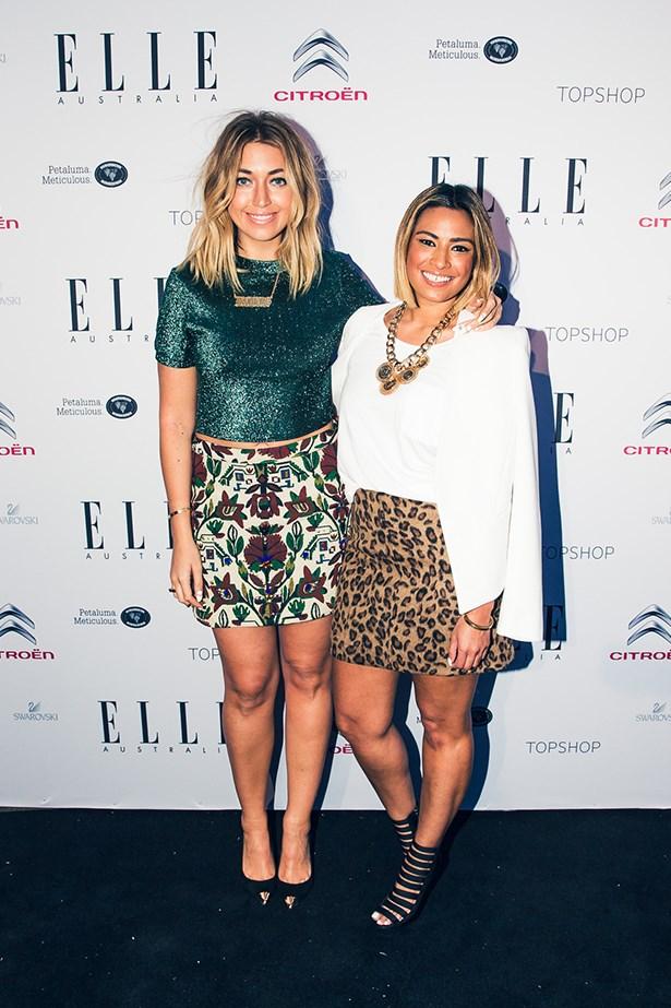 Milly Gattegno and Suhana Lye wearing Topshop