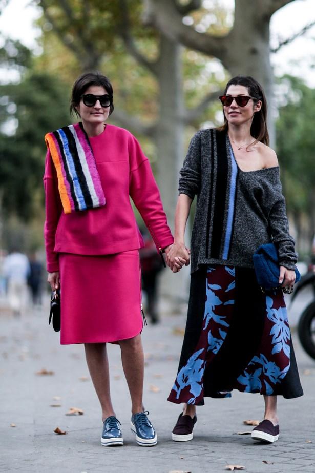 This stylish pair got the dressy sneaker memo.