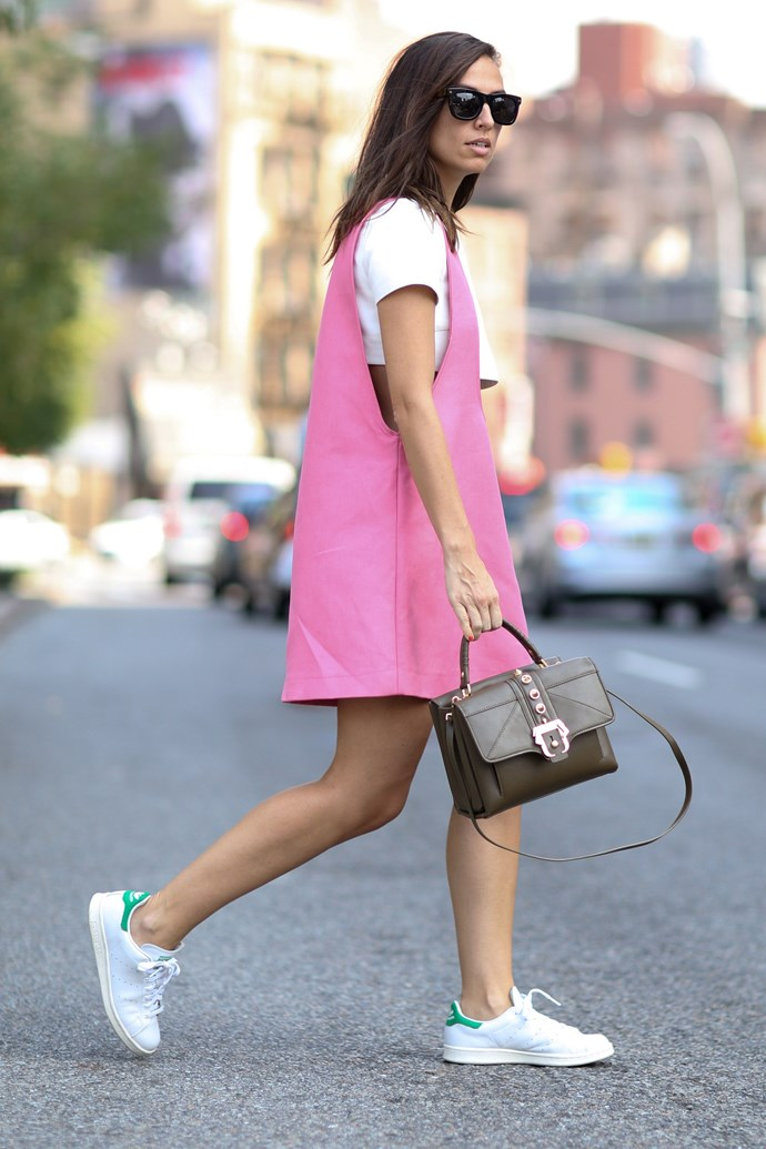 A street shoe + shift combo says you can hit the ground running. Literally, if need be.
