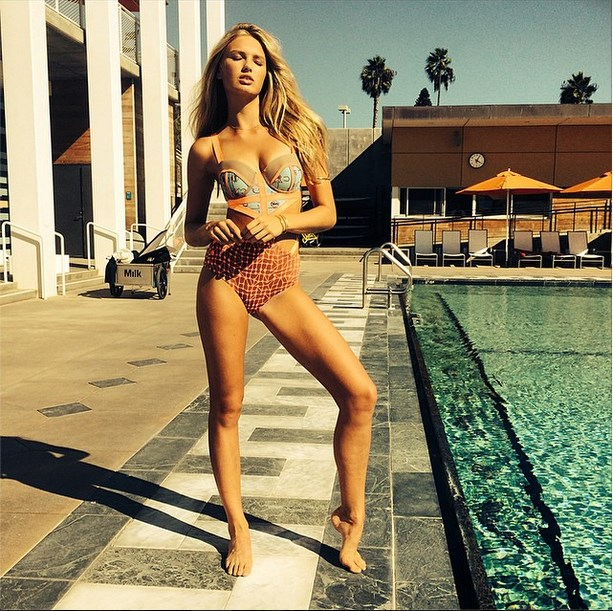 """<strong>5. Romee Strijd:</strong> <br><br> The Dutch model has the lips (and bod) to give VS Angel Candace Swanepoel a run for her money, plus she's put in the hard yards at <a href=""""http://www.elle.com.au/beauty/health-fitness/2014/10/victorias-secret-model-bootcamp-victoria-lee-narrandera/"""">the Aerospace VS bootcamp</a>. We think she's a strong contender. <br><br> Image courtesy of @romeestrijd via <a href=""""http://instagram.com/romeestrijd"""">Instagram</a>"""