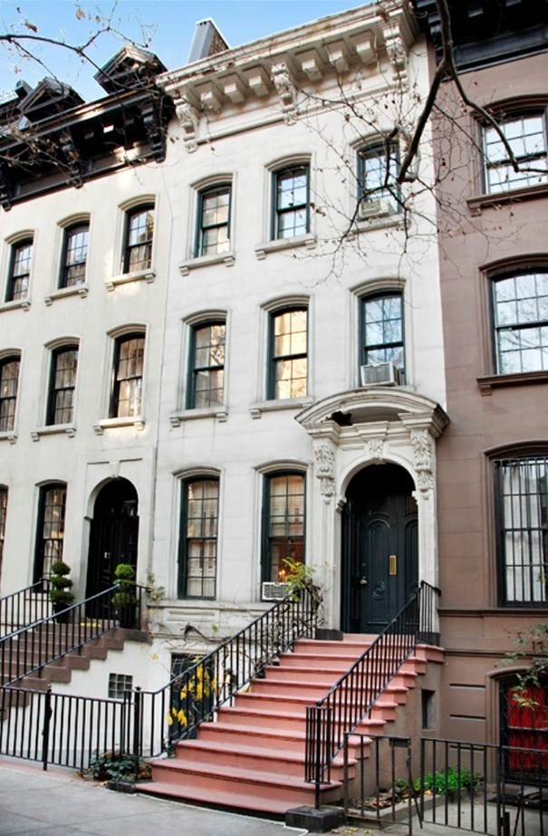 The street entrance and stoop of 169 East 71st Street, Manhattan, which still looks exactly as it was in 1961 when they filmed the iconic film.