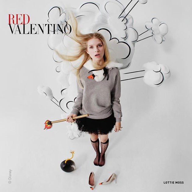 Lottie Moss for Red Valentino AW 14-15