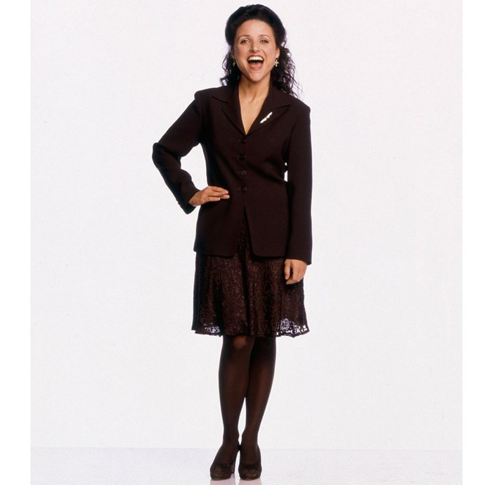 <strong>Elaine Benes from <em>Seinfeld</em>:</strong><br> We'll save our rant on Elaine being one of the most interesting female characters in television for another time.