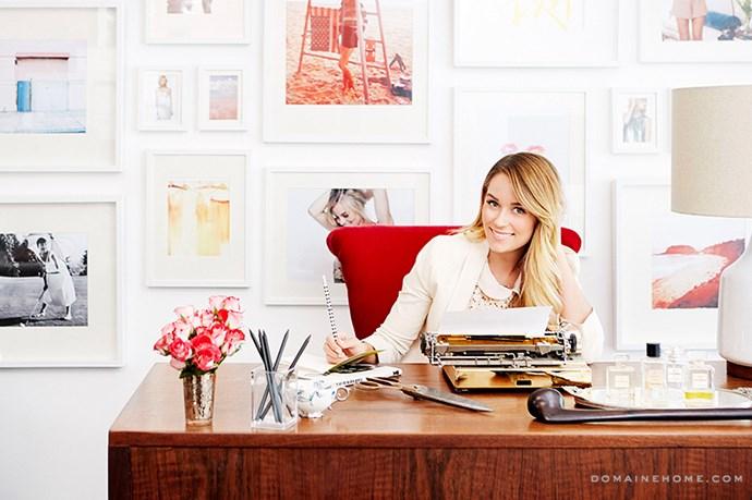 "Lauren Conrad's Paper Crown studio space is warm, but still modern. <br><br> <em>Image courtesy of <a href=""http://www.domainehome.com/lauren-conrads-office-makeover-at-paper-crown/"">domainehome.com</a></em>"