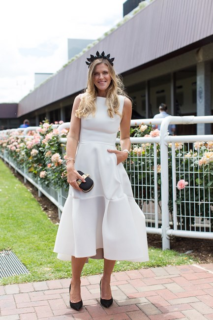 Bronwyn McCahon at Derby Day in Melbourne