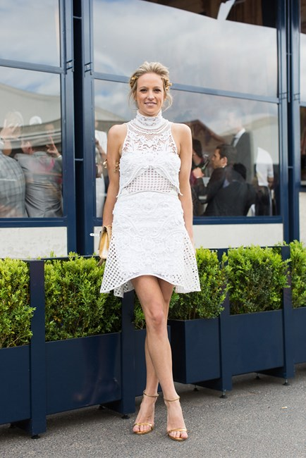 Helen O'Conner at Derby Day in Melbourne