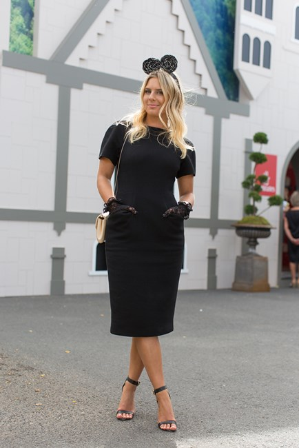 Lisa Hamilton at Derby Day in Melbourne