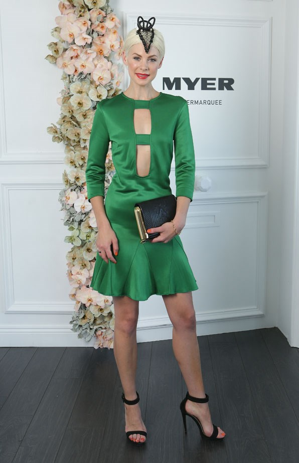 Who: Kate Peck <br> Location: Inside the Myer Marquee in Melbourne <br> Event: Melbourne Cup 2014  <br>