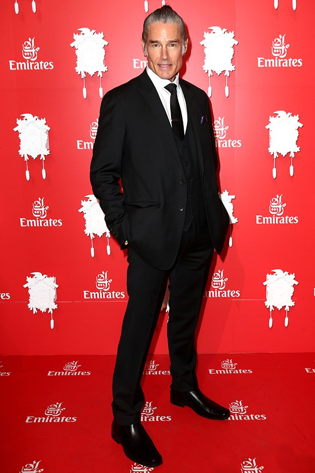 Who: Ronn Moss <br> Location: Inside the Emirates marquee in Melbourne<br> Event: Melbourne Cup 2014 <br>