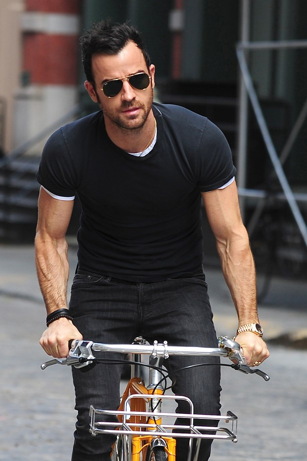 Those arms don't hurt either, Justin Theroux.