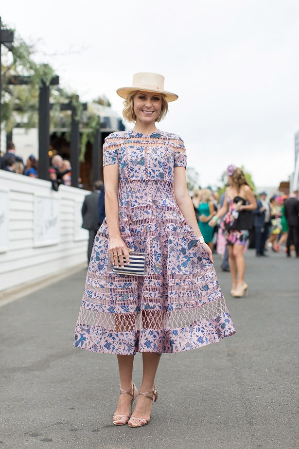 Name: Nicky Tindill<br> Event: Melbourne Cup 2014 <br> Wearing: Zimmermann Dress <br> Location: Melbourne <br> Image: Liz Mcleish of Streetsmith.com.au