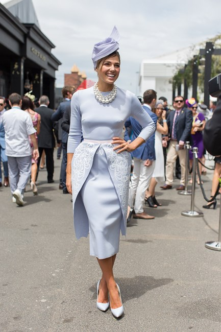 Ashley Hart at the Melbourne Cup 2014