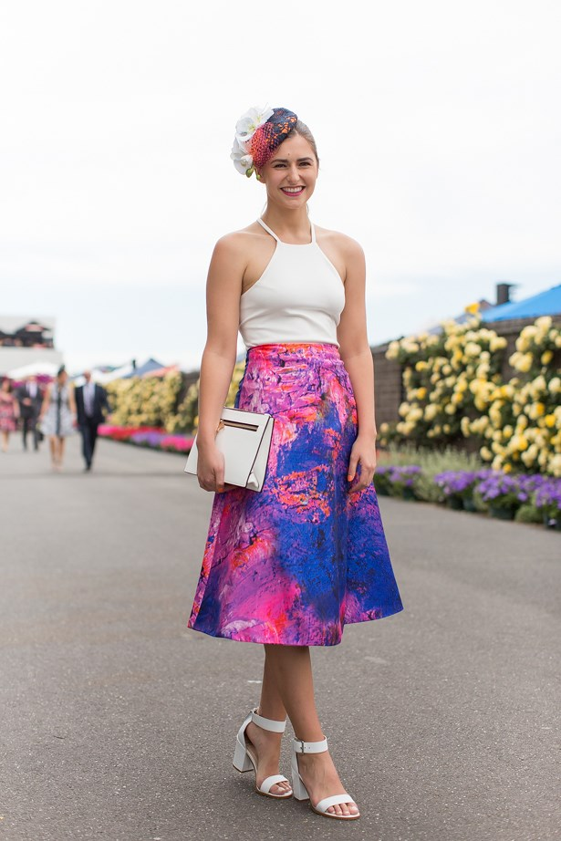 Name: Frances Abbott<br> Event: Melbourne Cup 2014 <br> Wearing: By Johnny<br> Location: Melbourne