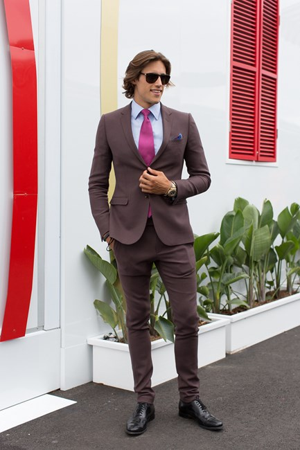 Zac Stenmark at the Melbourne Cup 2014
