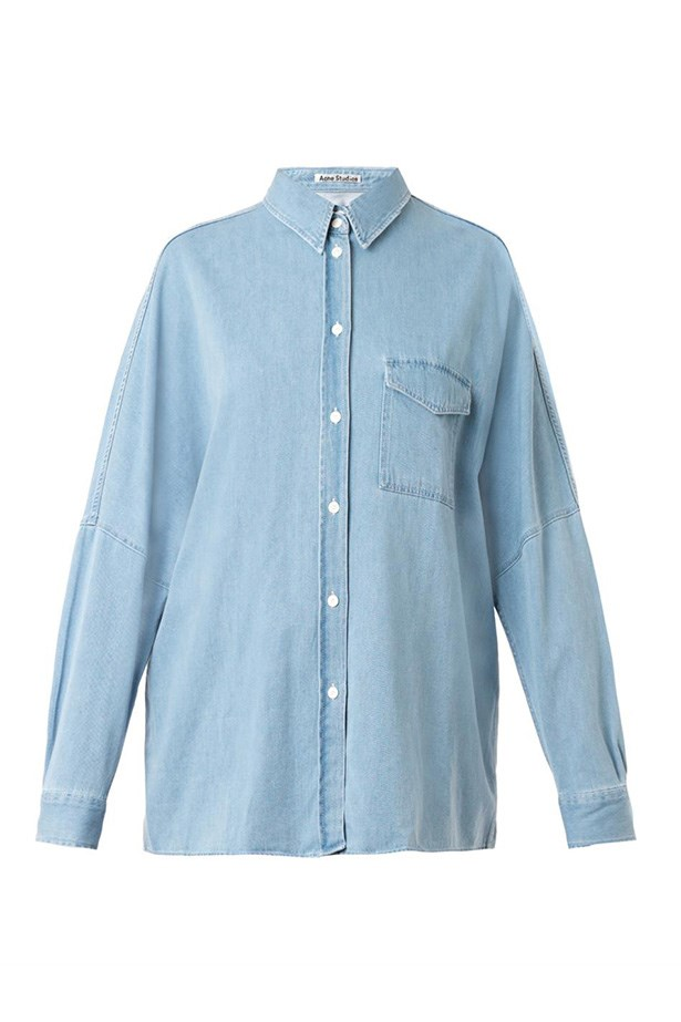 "Shirt, $305, Acne, <a href=""http://www.matchesfashion.com/product/207609"">matchesfashion.com</a>"