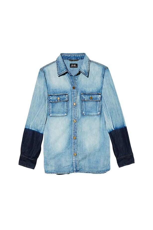 Shirt, $209, D-I Denim, denimislandaustralia.com.au