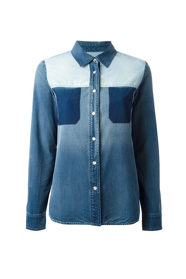"Shirt, $1320, Stella McCartney, <a href=""http://www.farfetch.com/au/shopping/women/stella-mccartney-denim-shirt-item-10848423.aspx?storeid=9446&ffref=lp_67_ "">farfetch.com</a>"