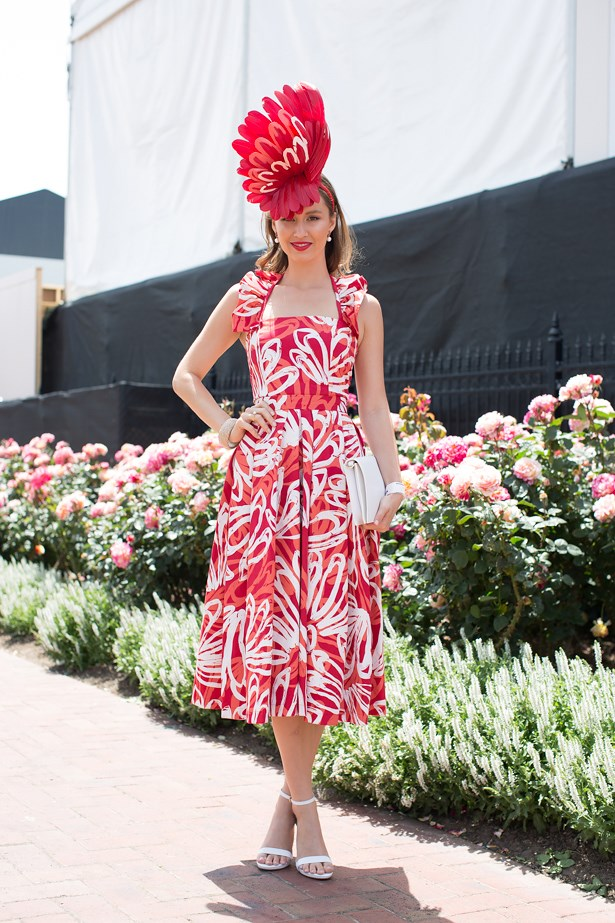 Name: Chloe Moo<br> Event: Crown Oaks Day 2014 <br> Location: Melbourne <br> Image: Liz Mcleish of Streetsmith.com.au