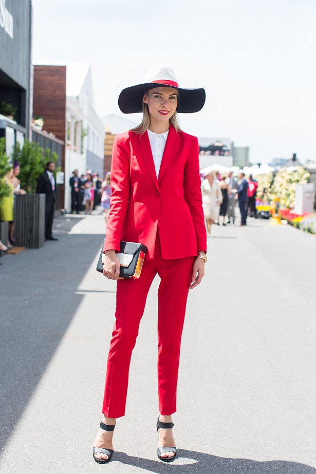 Name: Dasha Gold<br> Event: Crown Oaks Day 2014 <br> Location: Melbourne <br> Image: Liz Mcleish of Streetsmith.com.au