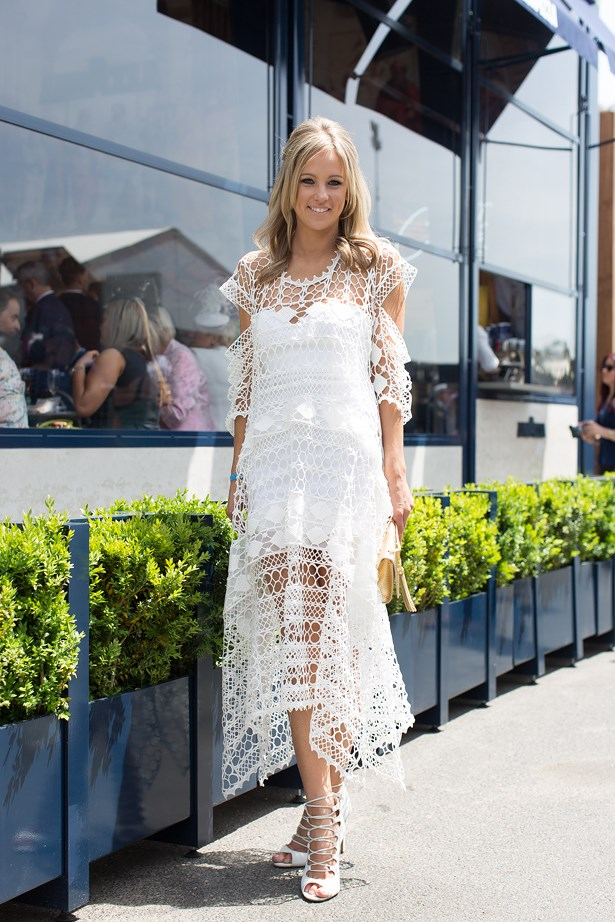 Name: Helen O'Conner<br> Event: Crown Oaks Day 2014 <br> Location: Melbourne <br> Image: Liz Mcleish of Streetsmith.com.au