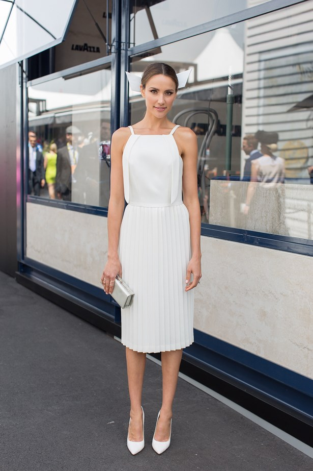 Name: Rachael Finch<br> Event: Crown Oaks Day 2014 <br> Location: Melbourne <br> Image: Liz Mcleish of Streetsmith.com.au
