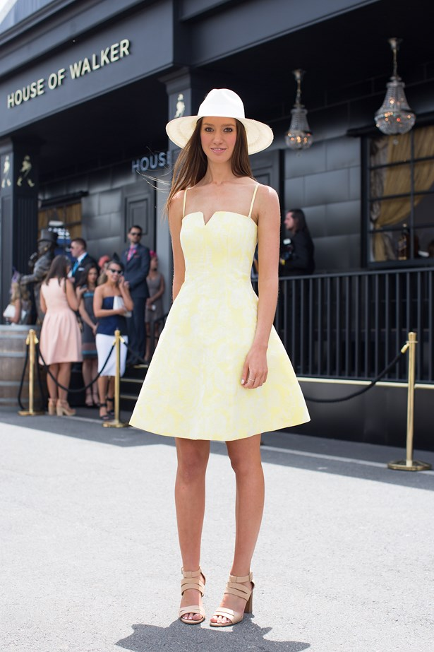 Name: Tabatha Turner<br> Event: Crown Oaks Day 2014 <br> Location: Melbourne <br> Image: Liz Mcleish of Streetsmith.com.au