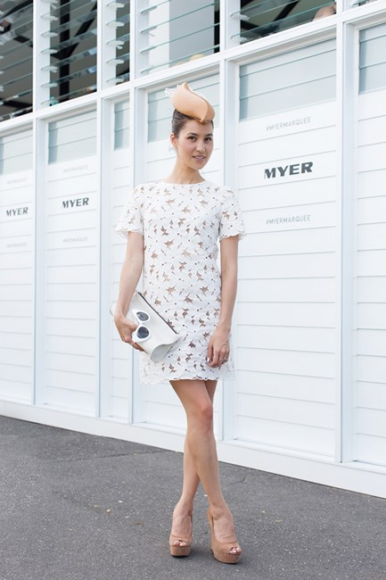 Emily Highfield at Emirates Stakes Day 2014