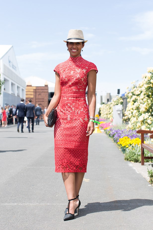 Name: Emma Hendry<br> Event: Emirates Stakes Day 2014 <br> Location: Melbourne <br> Image: Liz Mcleish of Streetsmith.com.au