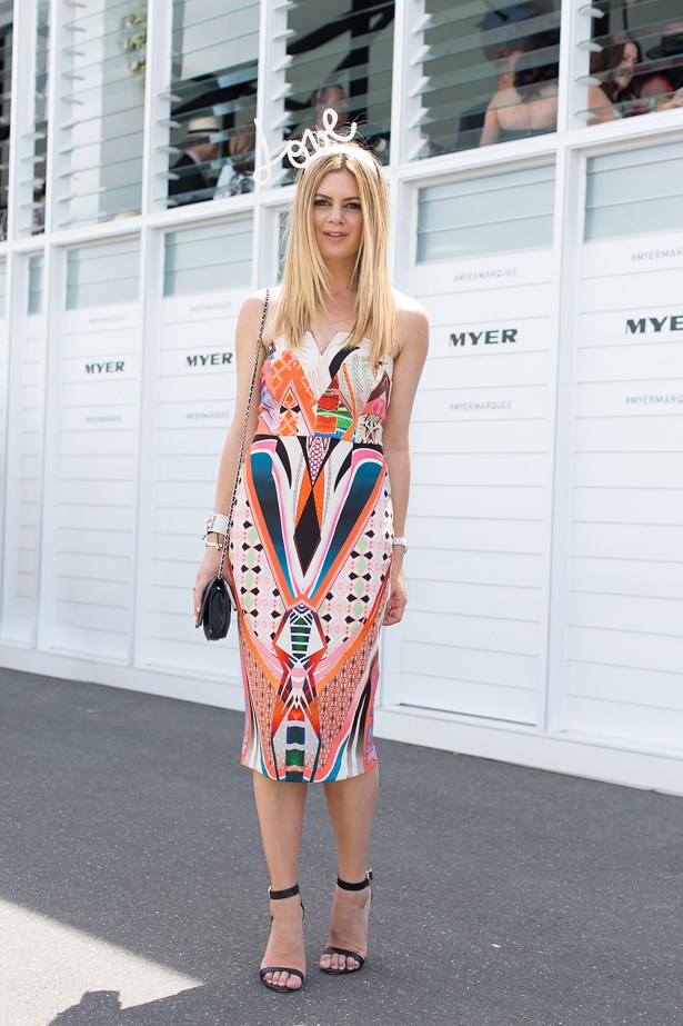 Name: Jess Dempsey<br> Event: Emirates Stakes Day 2014 <br> Location: Melbourne <br> Image: Liz Mcleish of Streetsmith.com.au