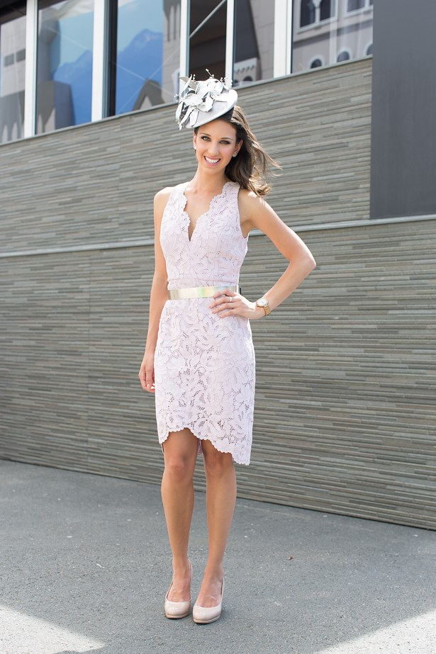 Name: Melina Sarris<br> Event: Emirates Stakes Day 2014 <br> Location: Melbourne <br> Image: Liz Mcleish of Streetsmith.com.au