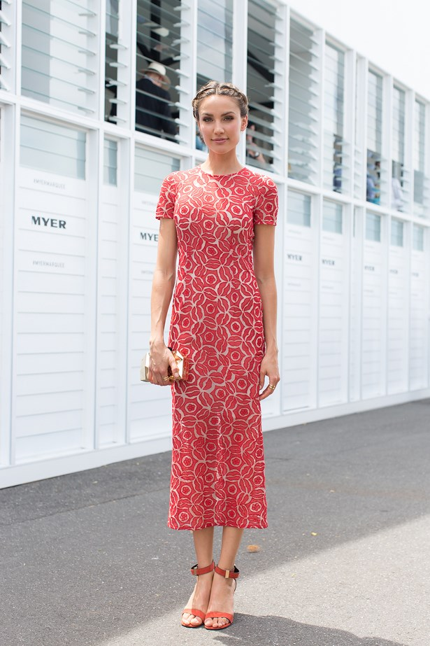 Name: Racheal Finch<br> Event: Emirates Stakes Day 2014 <br> Location: Melbourne <br> Image: Liz Mcleish of Streetsmith.com.au