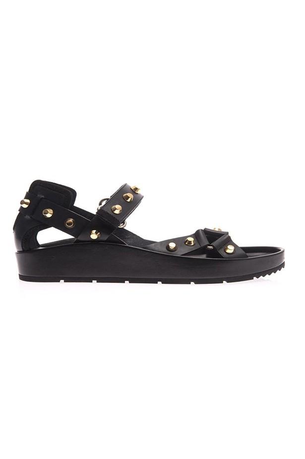 "Sandal, $745, Balenciaga, <a href=""http://www.matchesfashion.com/product/189628"">matchesfashion.com</a>"