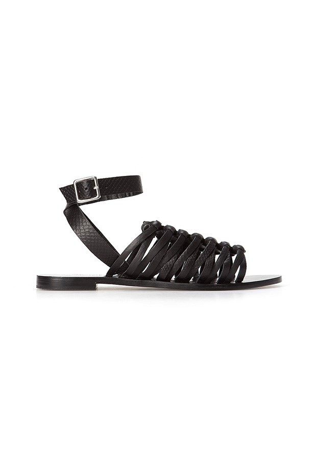 "Sandals, $129, Country Road, <a href=""http://www.countryroad.com.au/shop/woman/shoes/sandals-and-thongs/abby-emboss-sandal-60168372-1 "">countryroad.com.au</a>"