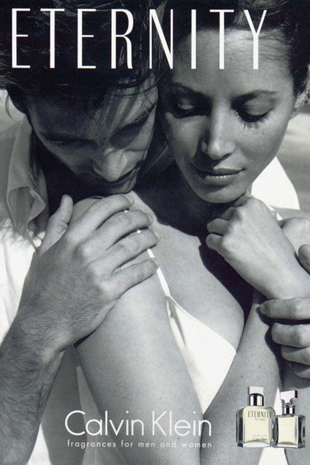 In 1995 Christy Turlington starred in the <em>Eternity</em> fragrance campaign with Dutch model Mark Vanderloo. (This year she returned to the campaign with her husband Ed Burns.)