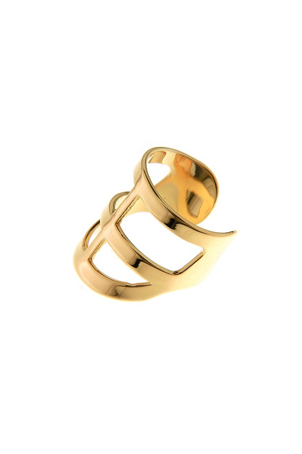 "Ring, $120, Ford + Harris, <a href=""http://www.fordandharris.com.au/products/the-brian-cross-ring-yellow-gold"">fordandharris.com.au</a>"