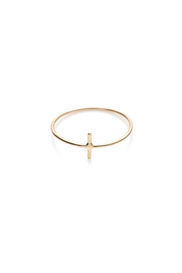 "Ring, $110, Sarah & Sebastian, <a href=""http://store.sarahandsebastian.com/products/line-ring-gold "">sarahandsebastian.com</a>"