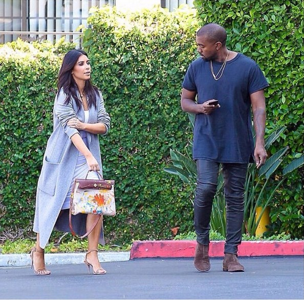 Kim Kardashians painted Birkin by North West