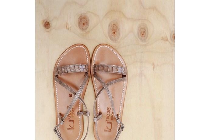 Sandals, $315, K Jacques St Tropez, bloodorange.com.au