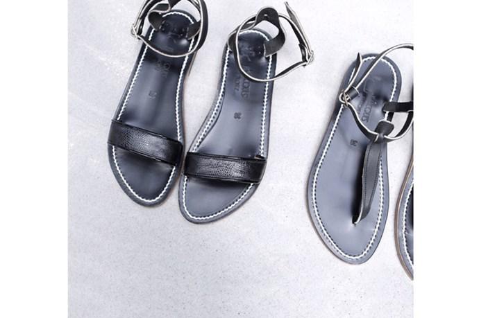 Sandal (left), $365, Sandal (right), $295, both K Jacques St Tropez, bloodorange.com