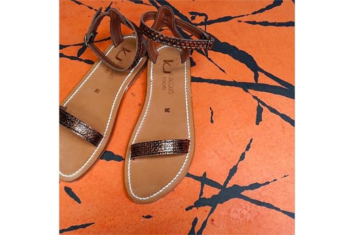 Sandals, $395, K Jacques St Tropez, bloodorange.com.au